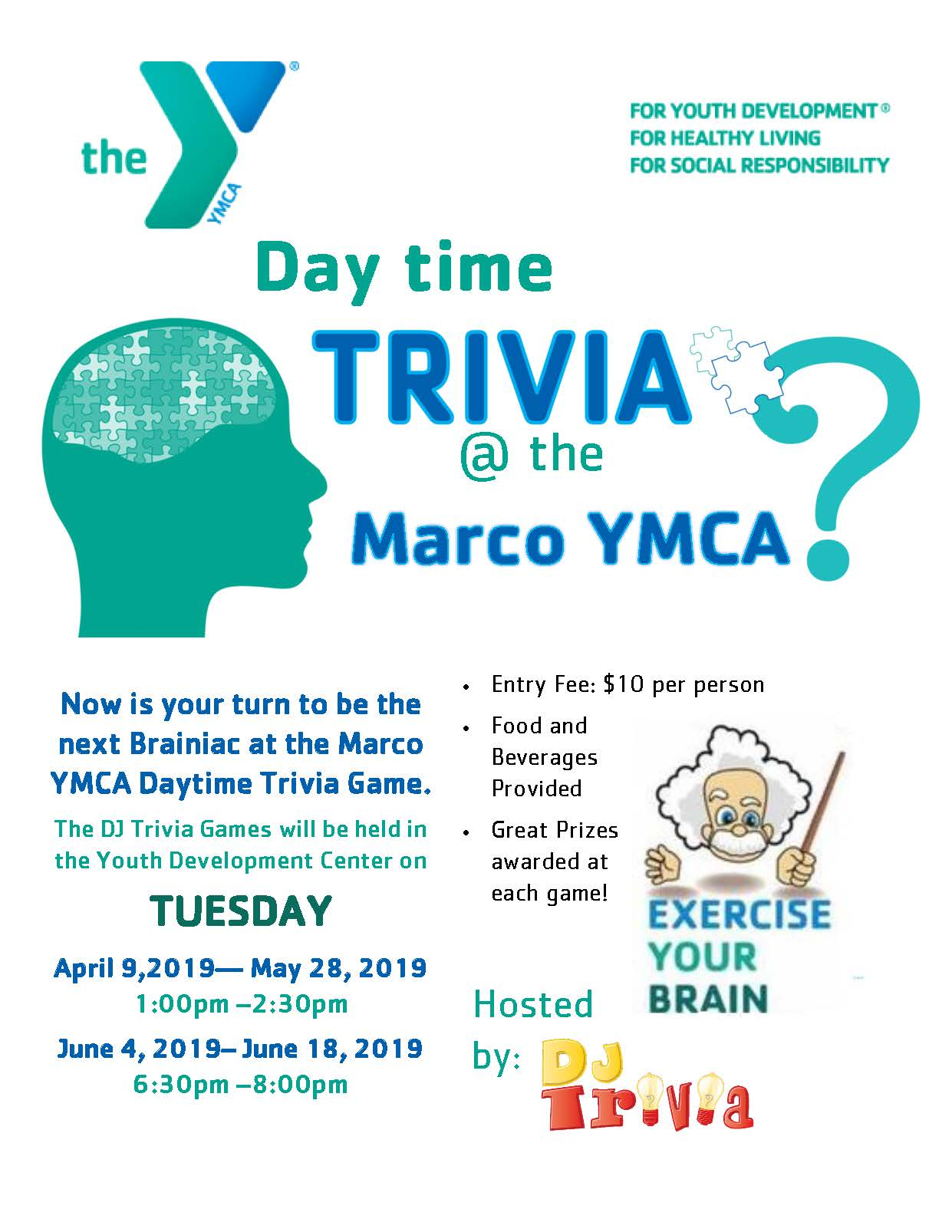 YMCA Day Time Trivia