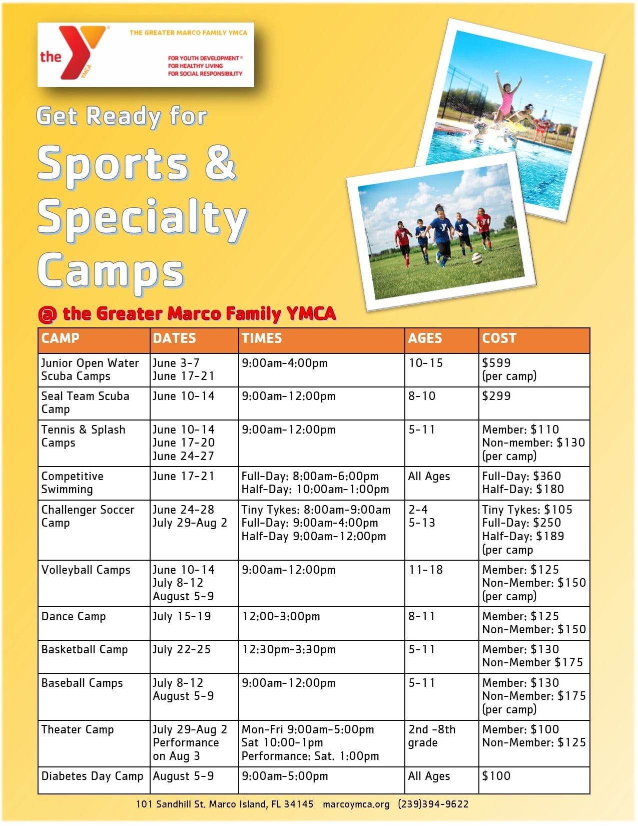 Marco YMCA Specialty Camp
