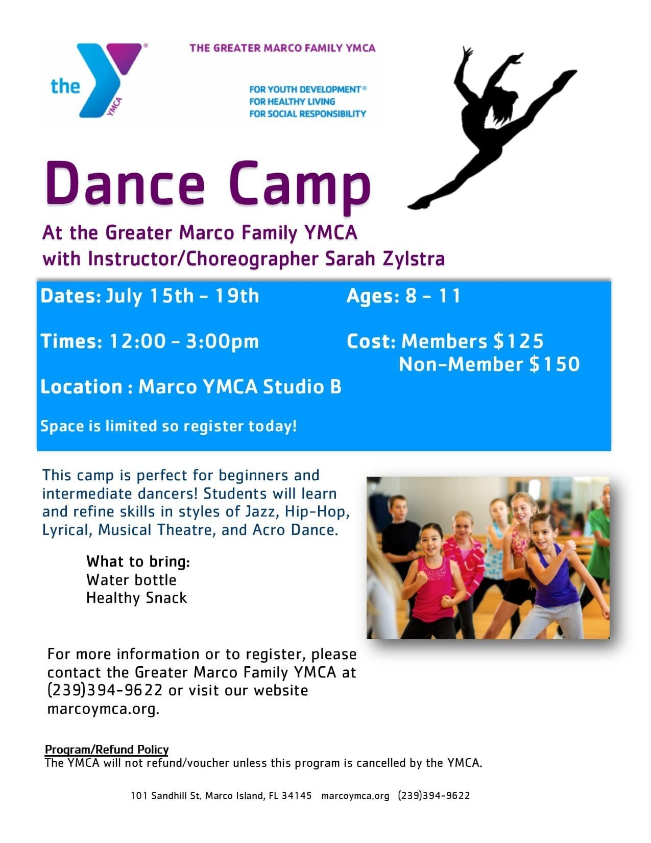 Marco YMCA Dance Camp