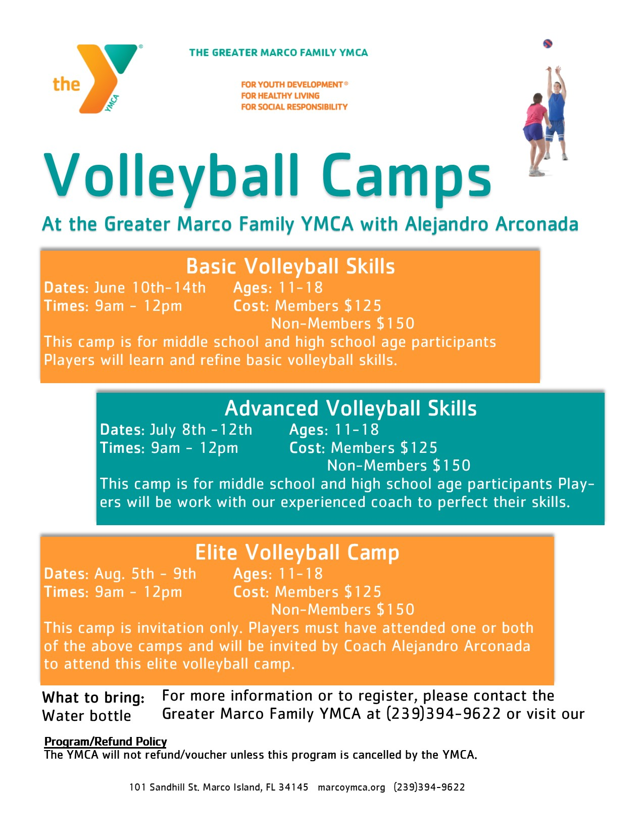 YMCA Volleyball Camp